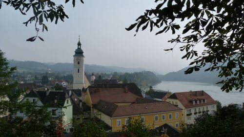 View of the Danube at Grein, the nicest town I've come to so far, and one of the oldest.