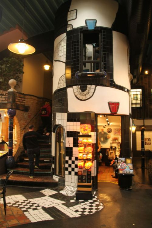 Hundertwasser Village. Though the shops may sell the predictable tourist tat, at least it's fun.