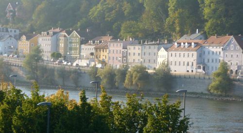 Passau, an attractive German university town by the river.