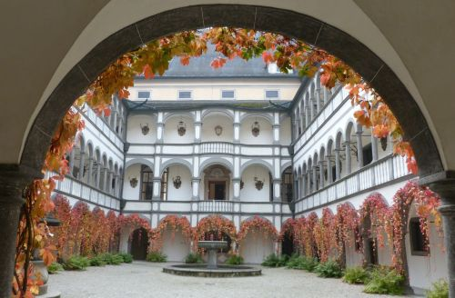 "And then there's Schloss Greinburg. Maybe it's just ""another bloody castle"" but I was there a the perfect time of year, with the autumn leaves turning."