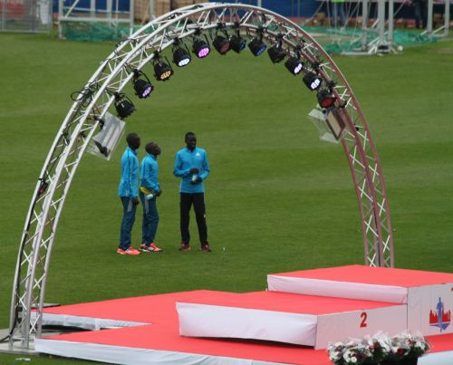 """Some should tell these Kenyans, """"Congratulations on winning our marathon, but it's polite to look tired afterwards."""""""