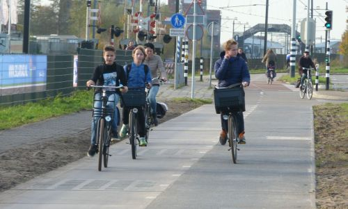 Krommenie's car-free cycle way, generating electricity. What's not to like?