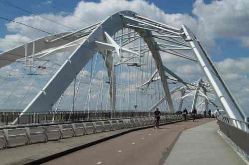 Ijburg is a new housing development on a new Amsterdam island. OF course that requires a new bridge.