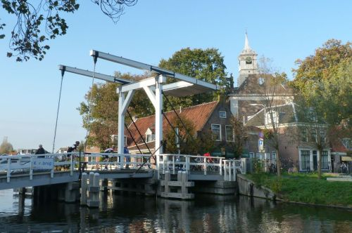 The bridge at the charmingly named Ouderkerk aan de Amstel (Old Church on the Amstel)