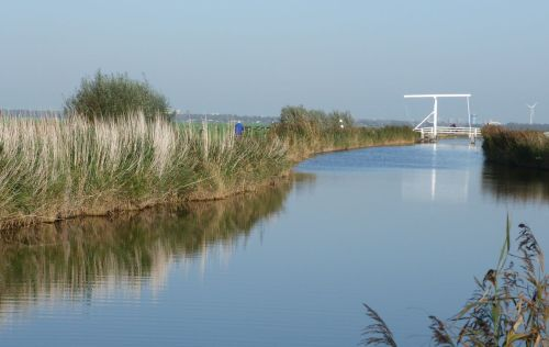 Sometimes the simplest ones are the best. This is the bridge over the lovely, tiny, Waver River, south of Amsterdam.