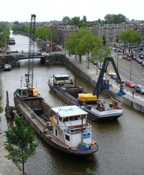 It's not always the quietest spot in Amsterdam.