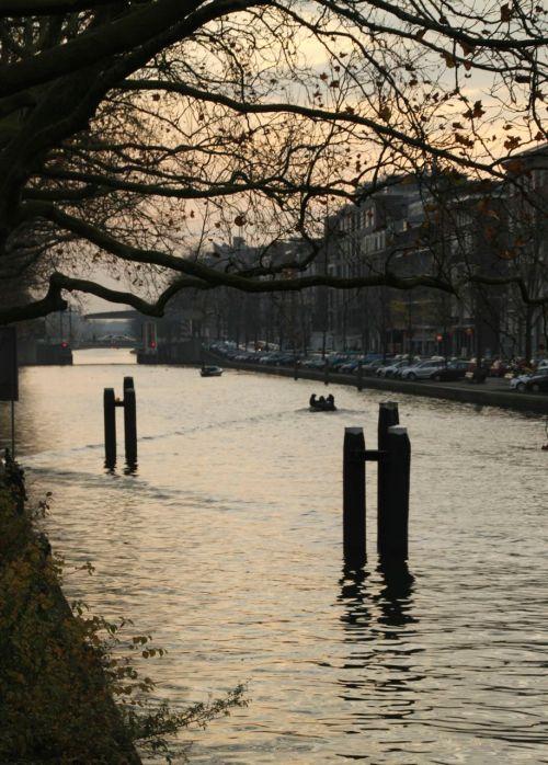 The Schinkel canal, Amsterdam