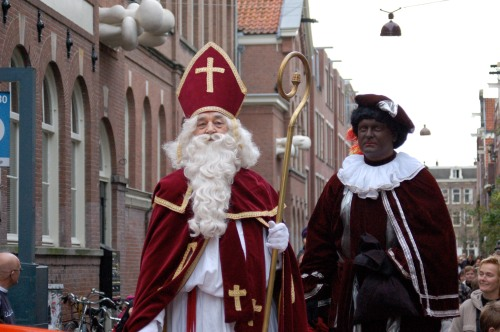 Sinterklaas and Zwarte Piet. Photo: Wikicommons.