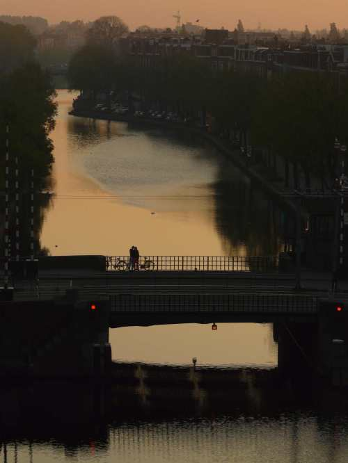 It's worth getting up very early in the morning sometimes. The couple on bridge thought so too.