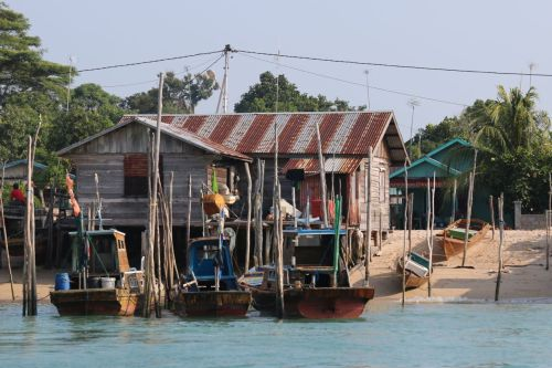 A Riau fishing village.