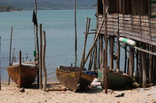 Fishing boats on Pulau Jang.