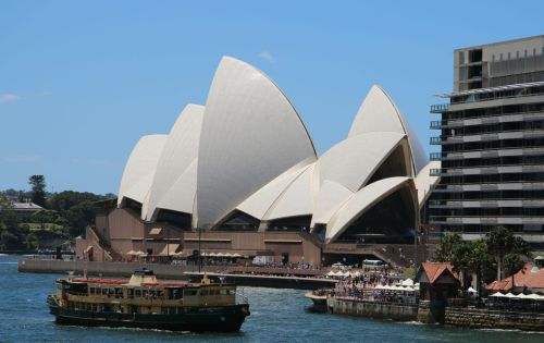 The Sydney Opera House - it's been OUR theatre for  the past month. I still get a big buzz every time I approach it.