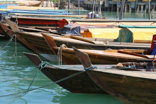 Pancung boats at Sekupang Wharf.