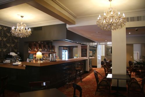 The bar...the furnishings would suit a gentlemen's club.