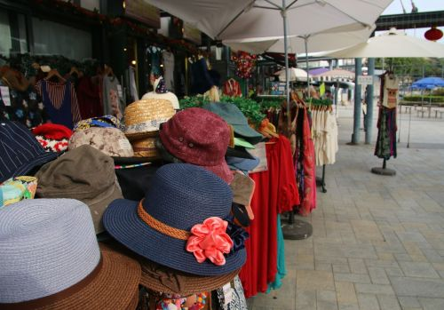 Stanley Markets -  the place to buy a sunhat, which you possibly wouldn't need if you'd never come to Stanley Beach.