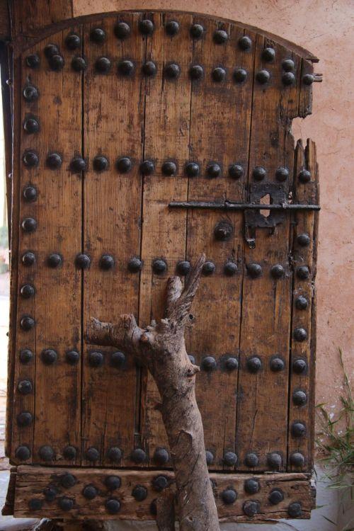 ...the front door...