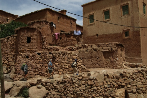 Passing through a Berber village.