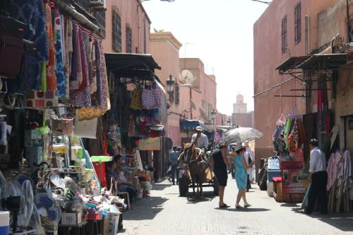 Watch your step in Marrakech. If the donkey cart doesn't get you, a motorbike rider will.