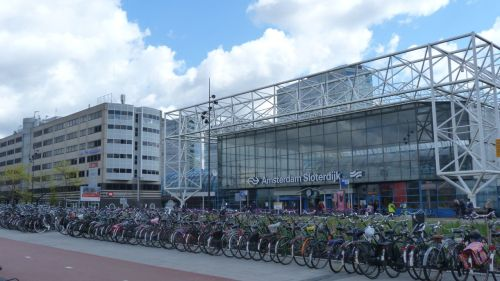 Sloterdijk Station is one of Amsterdam's major train and bus hubs. So it has plenty of parking for those who need to get there on the bike.