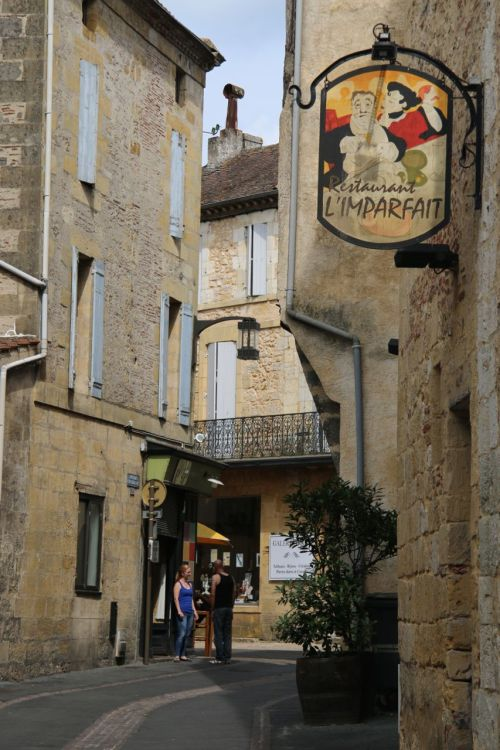 Bergerac with Restaurant l'Imparfait. We didn't try their 'imperfect' cuisine, but I like the honest name.