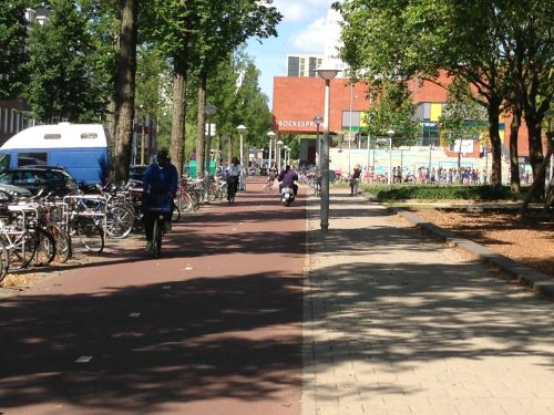 Maybe there's a little danger of tangling with another bike, but I'll hardly ever have to deal with motor traffic over the 21kms between here and Haarlem.