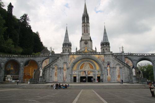 The church at Lourdes.