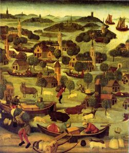 A 15th century painting depicts the St Elizabeth's Flood.