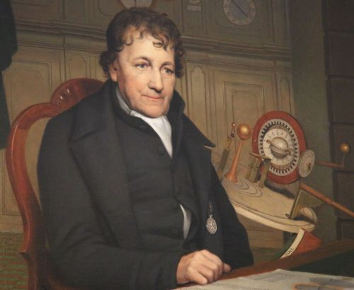 Eise Eisinga's portrait now adorns the marriage hall in the Town Hall. History does not record how his own marriage survived the building process in his living room.