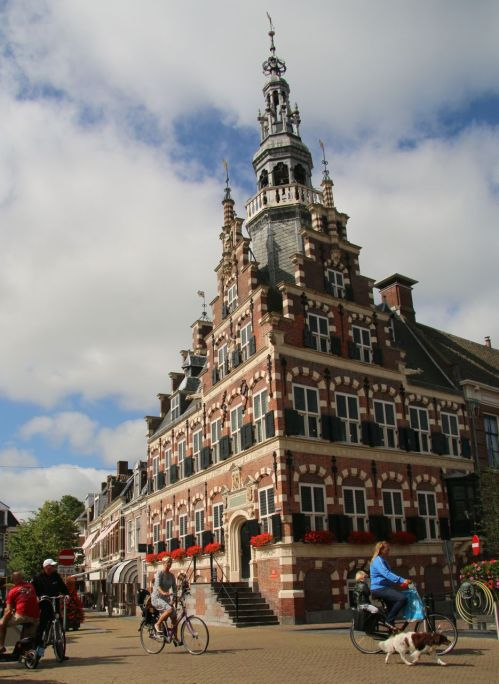 Franeker has an elaborate Town Hall. Then little house across the street from it is even more amazing.