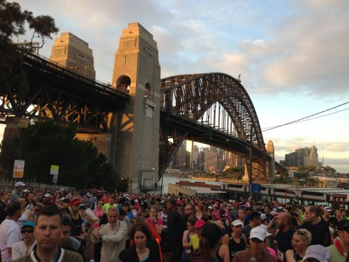We weren't the only ones up so early. 35,000 runners had enters the running festival, with over 7000 of them doing the half marathon.