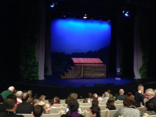 The house fills up for the first performance of The 52 Storey Treehouse.