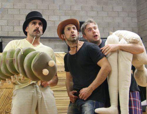 Johnny Nasser, James Elliott and Drew Livingston rehearsing The 52-Storey Treehouse.