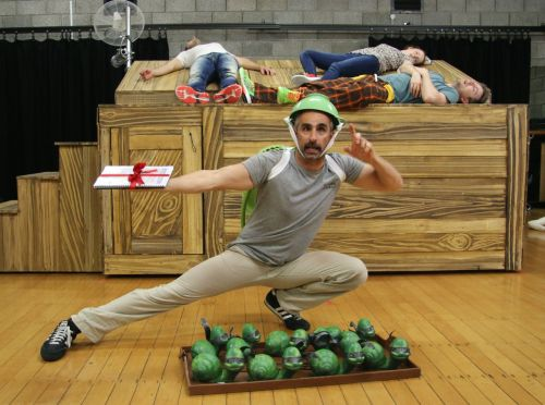 Johnny Nasser as the Ninja Snail master.