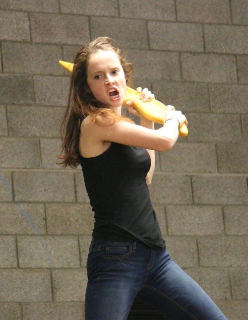 'Prepare to be peeled!' Sophie Kesteven as Vegetable Patty, the giant potato slayer.