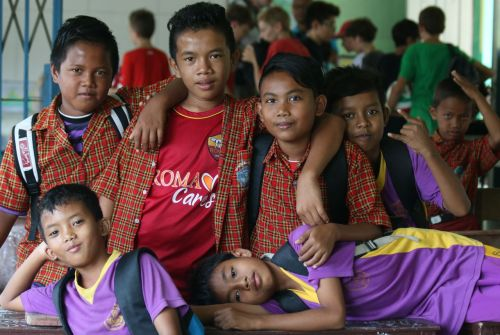The cool dudes at Jang Island School, Indonesia