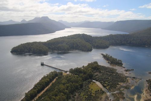 We flew by seaplane into lovely Lake St Clair, Tasmania.