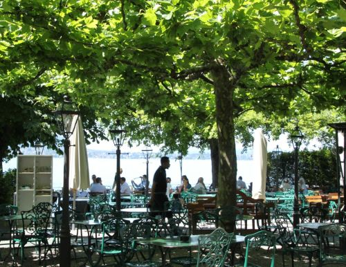 Biergarten. Romantik Seehotel Sonne, Kussnacht